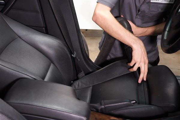 how to clean oil from leather seats